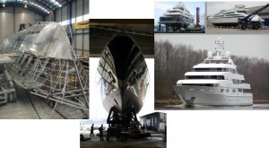 New build processes for megayachts